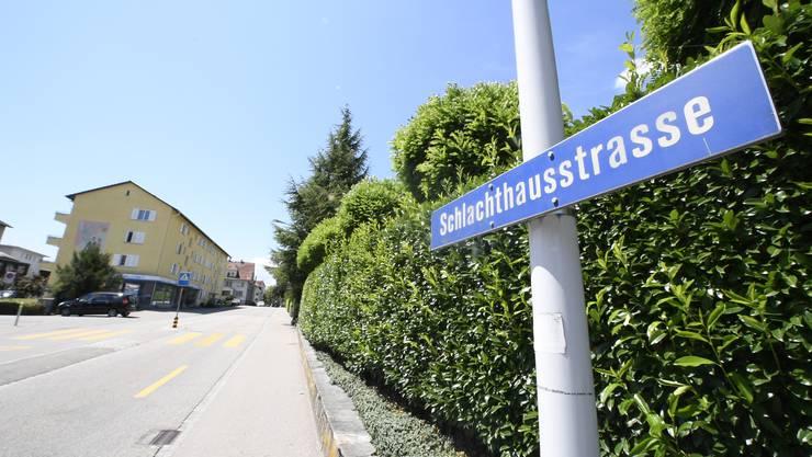 Die Schlachthausstrasse könnte schon bald Léon-Breitling-Strasse heissen.