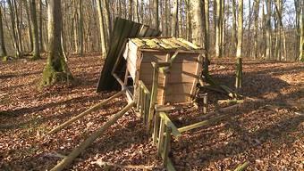 Jagd-Hochsitz in Habsburg mutwillig zerstört