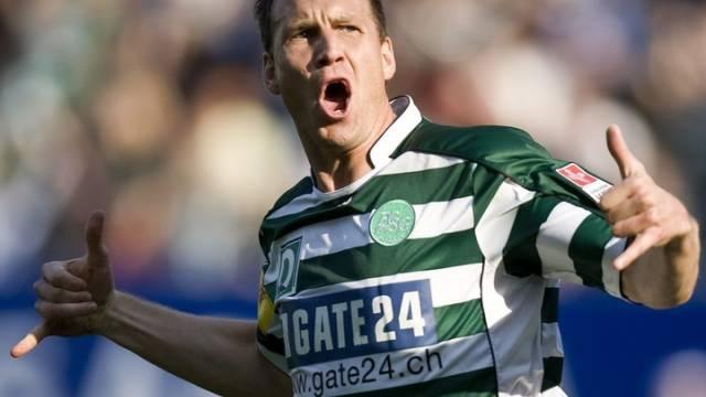 Moreno Merenda jubelt nach seinem Tor zum 1:0