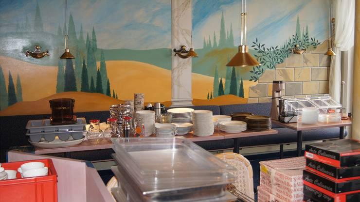 Das Restaurant-Inventar vom Hotel Basilea.