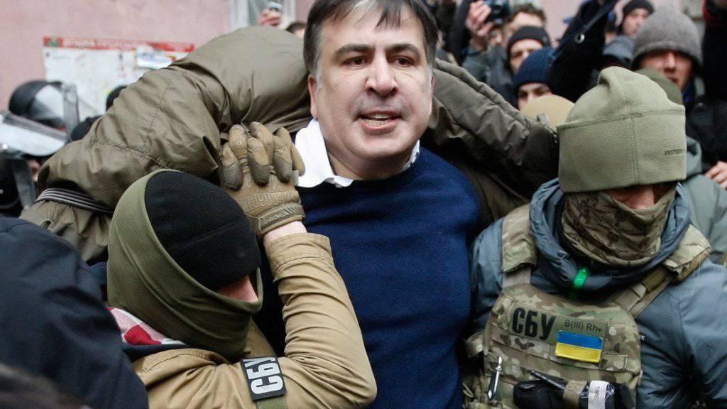 Michail Saakaschwili zum Zeitpunkt seiner Festnahme in Kiew