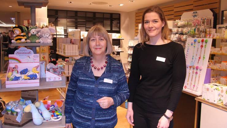 Margrit Bohnenblust und Tanja Weber haben an der Gurzelngasse den Kinderladen Elf eröffnet.