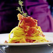 Thumb for 'Safran-Spaghetti mit Kürbis-Sugo'