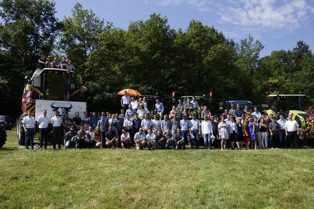 Absolventinnen und Absolventen Grundbildung Landwirtschaft