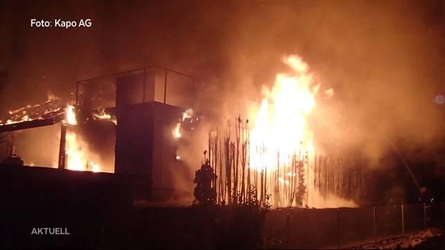 Familie verliert bei Grossbrand in Boniswil ihr Zuhause