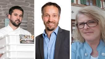 Drei Wirte – ein Problem: Corona und die damit verbundenen Massnahmen des Bundesrats: Patrick Schneider, Hanspeter Budmiger und Marie Therese Meier.