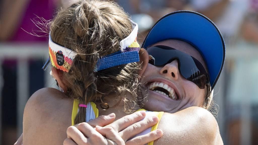 Nina Betschart (rechts) und Tanja Hüberli wollen auch an den Olympischen Spielen in Tokio jubeln