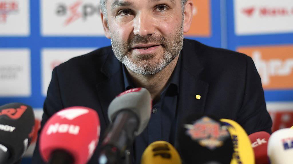 Der neue GC-Trainer Tomislav Stipic bei seiner Präsentation in Zürich