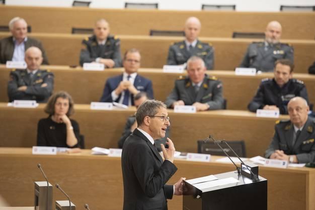Militärdirektor Urs Hofmann: «Ihnen gebührt der grosse Respekt des Aargauer Regierungsrats und der Aargauer Bevölkerung.»