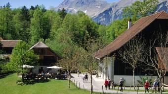 Blick auf Teil des Freilichtsmuseums Ballenberg (Archiv)