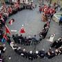Das Land umfassen und konfessionelle Grenzen überwinden: 40. Centralfest des Schweizerischen Altzofingervereins am 25. April 2015. Bild: E. Ammon/AURA