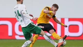 Matchwinner der Young Boys beim 3:2-Sieg in St. Gallen: Yoric Ravet (rechts)