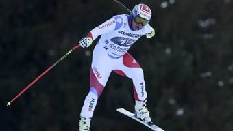 Abzug in den Stilnoten, aber dennoch schnell unterwegs: Beat Feuz bei der Abfahrt in Garmisch