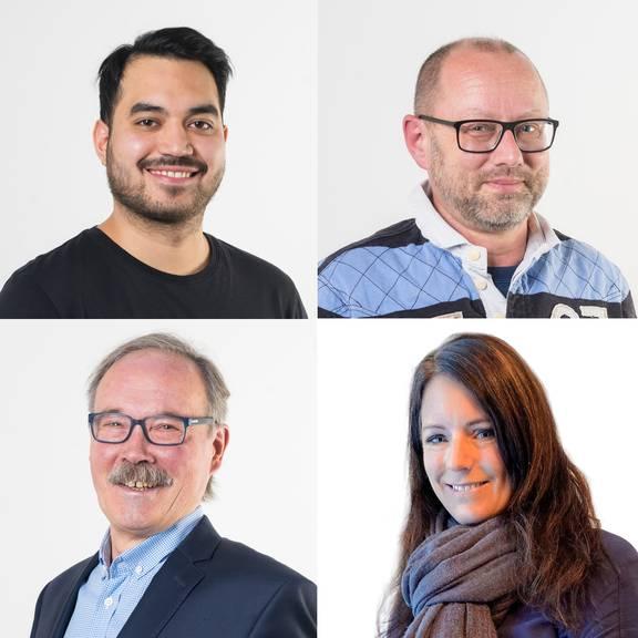 Die vier Finalisten: Philipp Kathriner, UrsAnton Krügel, Alois Meile, Andrea Schnellmann (v.l.o.n.r.u)