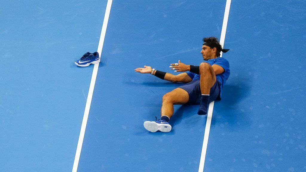 Erklärte wegen einer Verletzung im linken Knie Forfait für den Viertelfinal in Paris-Bercy: Rafael Nadal