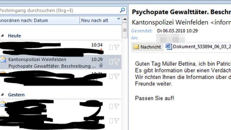 So sehen die Spam-Mails aus. Wer die angehängte Word- oder Zip-Datei öffnet, fängt sich vermutlich einen E-Banking-Trojaner ein.