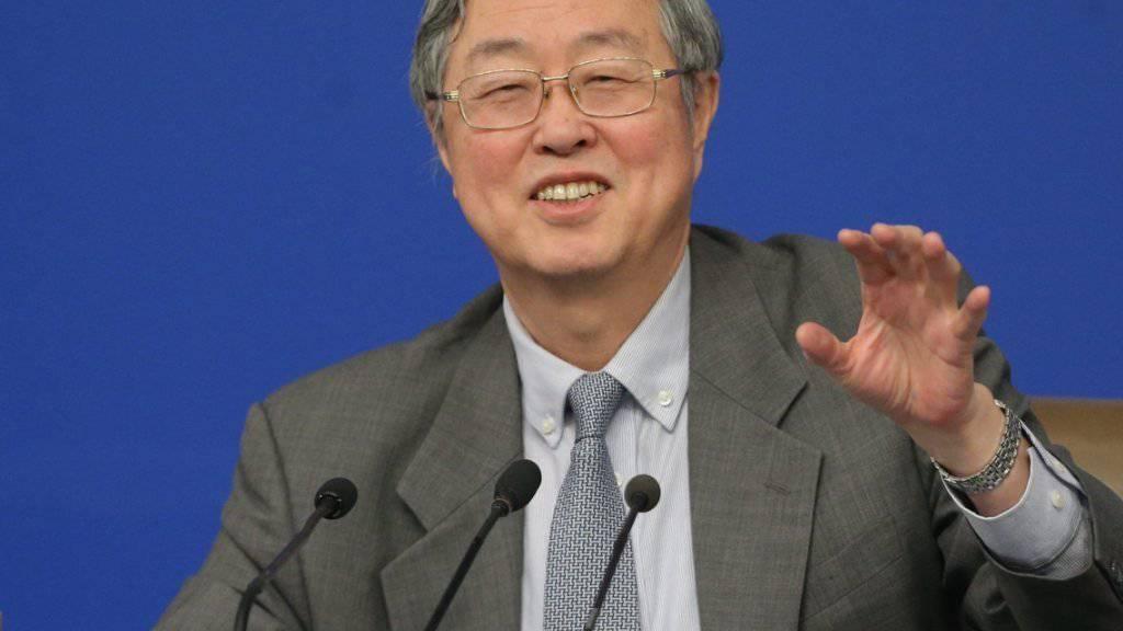 Chinas Zentralbankchef Zhou Xiaochuan rechnet nicht damit, dass der Yuan weiter sinkt.