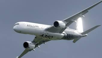 Illegale Anschubfinanzierung durch die EU: Ein Airbus A350 an der Internationalen Luftfahrt-Ausstellung in Berlin.
