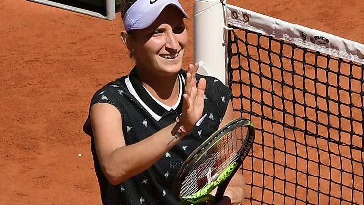 Marketa Vondrousova stürmt bislang durch das French Open