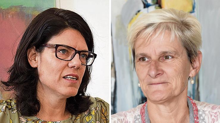 Barbara Horlacher (l.), Stadtammann in Brugg und Heidi Ammon, Gemeindepräsidentin in Windisch (r.) waren gut infromiert über den laufenden Prozess.