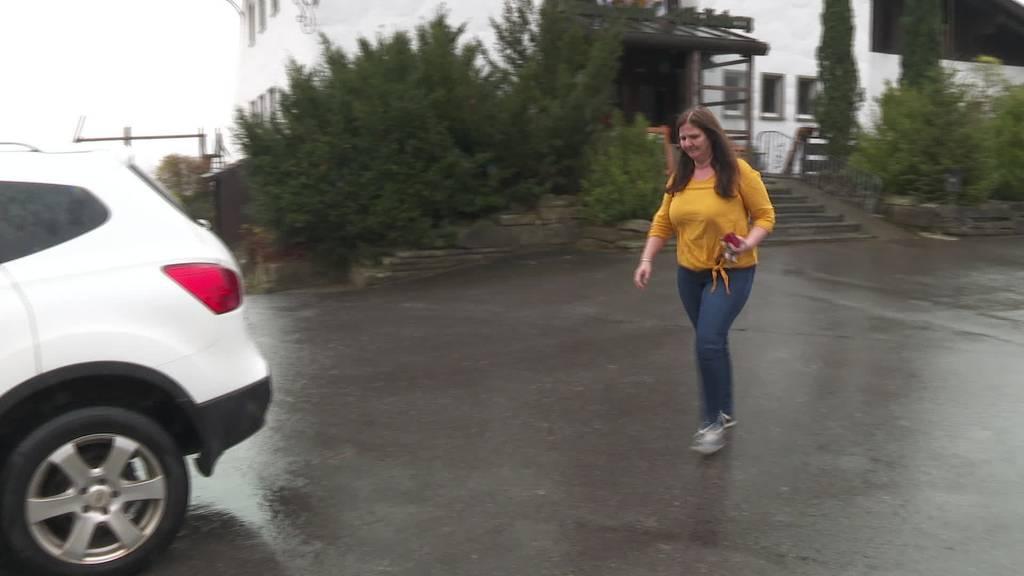 Schnappschuss: Karoline Motzer entdeckt Wolf im Eichberg