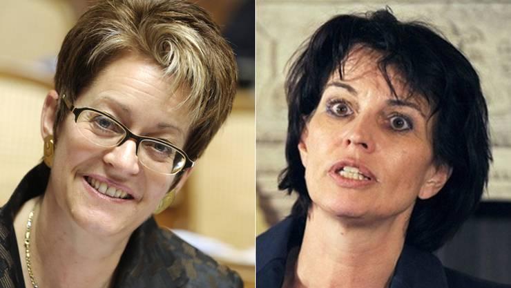 Uneins in Sachen Atom-Ausstieg: Esther Egger und Doris Leuthard