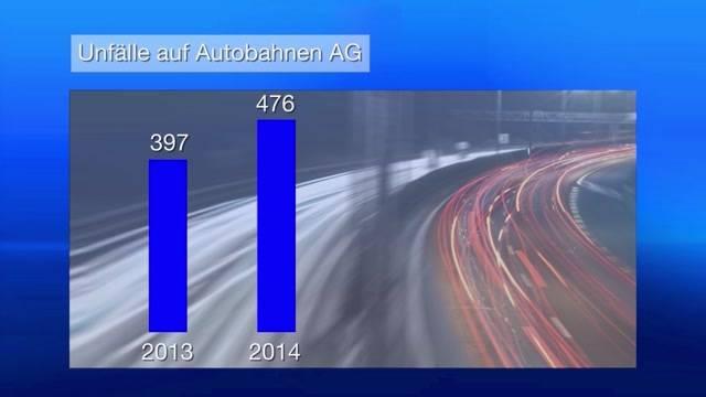 Autobahn-Autounfälle nehmen im Aargau massiv zu