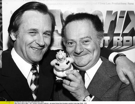 Die zwei «Väter» von Asterix: Albert Uderzo (Zeichner) und René Goscinny (Autor).