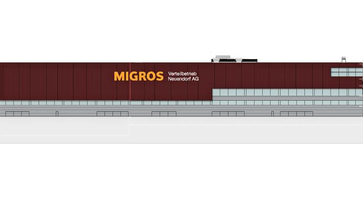 Diese Grafik zeigt, wie die Südfassade des «MVN West» aussehen wird.