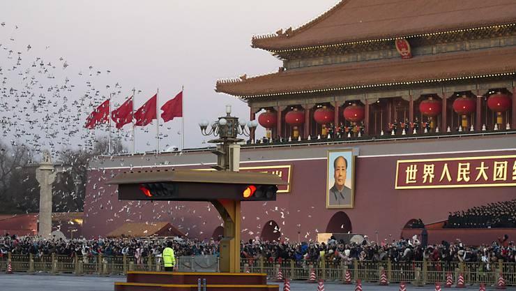 Ungewöhnlich klare Luft in Peking: Die Luftverschmutzung in der chinesischen Hauptstadt ist zwar immer noch hoch, in den letzten Jahren aber zurückgegangen. (Archiv)