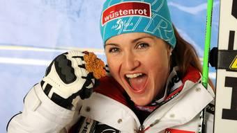 Elisabeth Görgl gewinnt die Goldmedaille
