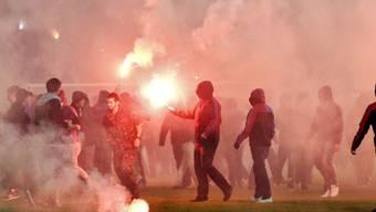Aktionen wie diese sorgen für Unstimmigkeiten zwischen der Polizei und Hooligans