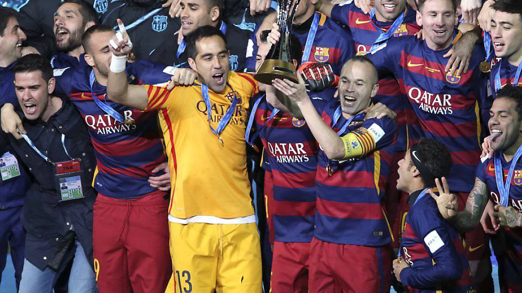 Der FC Barcelona gewinnt in Yokohama (Jap) nach 2009 und 2011 zum dritten Mal die Klub-WM