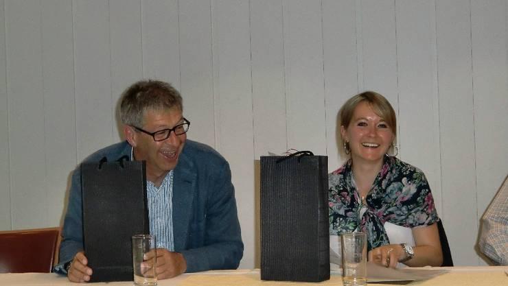 Referent Daniel Mosimann und Referentin Linda Kleiner in fröhlicher Sommerlaune