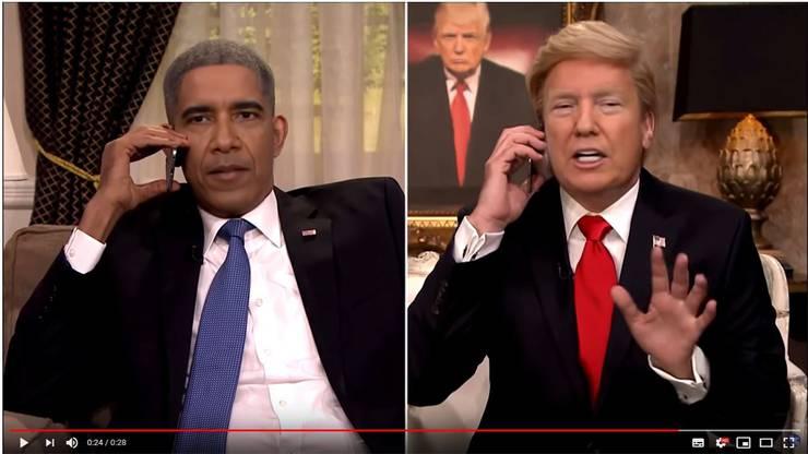 Ein Deepfake-Video, das die Gesichter von Flynn und Fallon durch das der US-Präsidenten ersetzt.