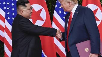 Die Lage der Menschenrechte in Nordkorea hat sich auch nach dem Gipfeltreffen von Kim Jong Un und Donald Trump kaum verbessert - Experten schätzen weiterhin 120'000 politische Gefangene in Nordkorea. (Archivbild)