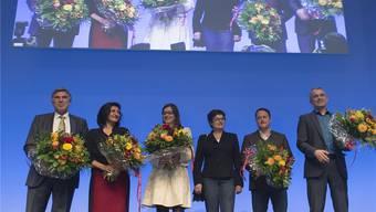 Die neuen: Christoph Eymann (LDP) und Sibel Arslan (Basta). KEYSTONE/Georgios Kefalas