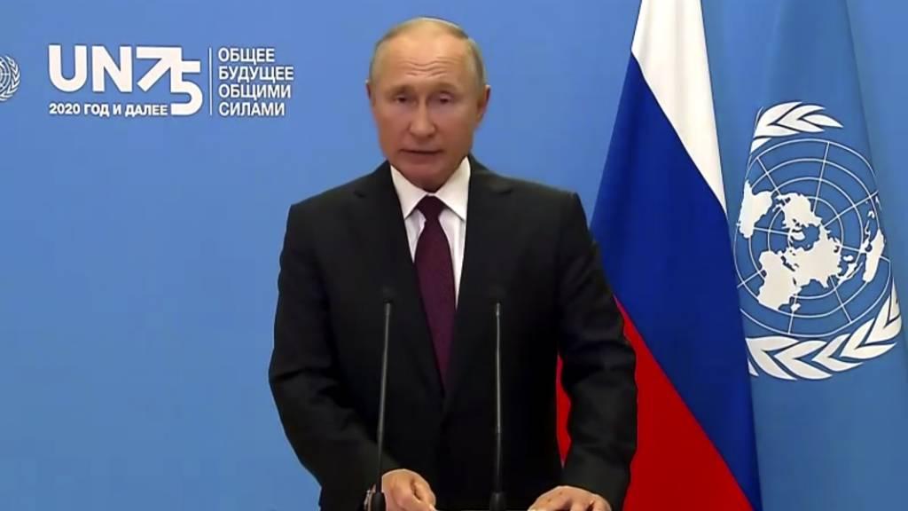 Putin wirbt bei UN-Rede für Russlands Corona-Impfstoff