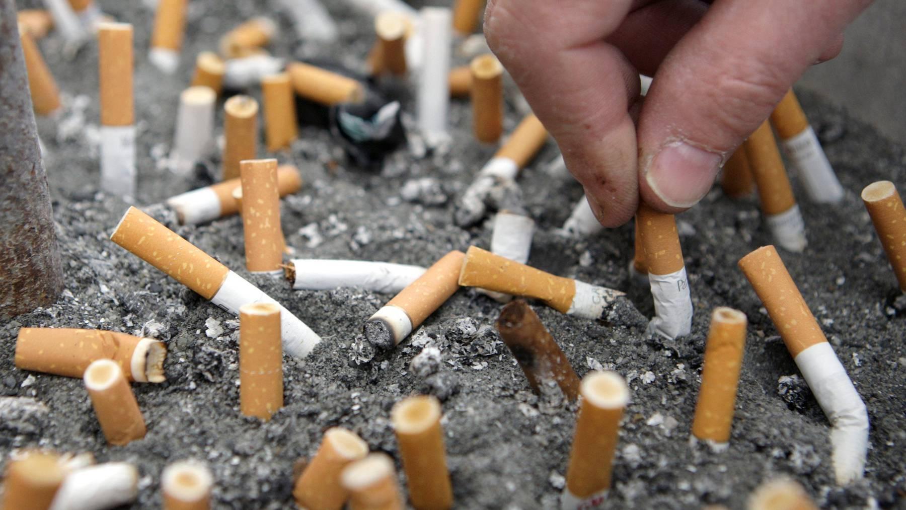 Die höchsten volkswirtschaftlichen Kosten entstehen durch Nikotinsucht. (Symbolbild)