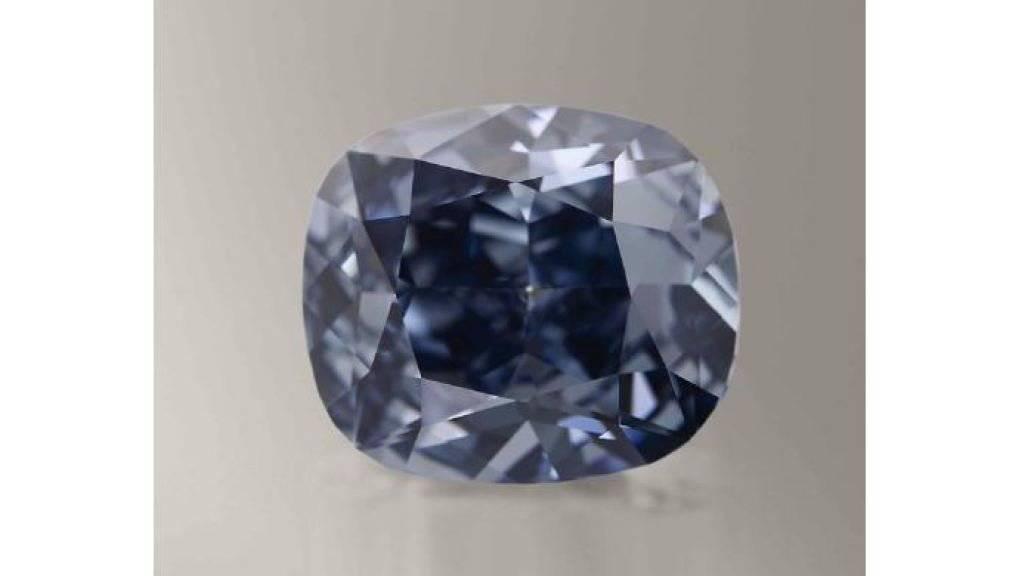 Die blaue Farbe entsteht, wenn sich Bor und Kohlenstoff bei der Gesteinsbildung mischen (Bild zur Verfügung gestellt).