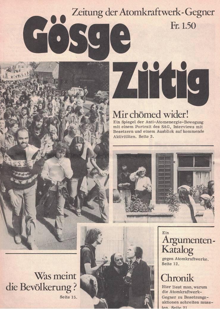 Die Gösge-Ziitig: die Kampfschrift der AKW-Gegner.
