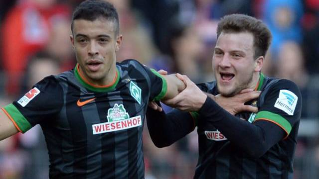 Bremens Franco di Santo (links) erzielte gegen den HSV das Siegtor