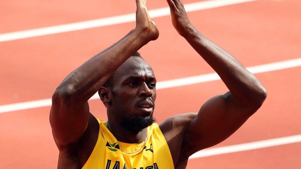 Usain Bolt feiert seinen Abschied von der Leichtathletik