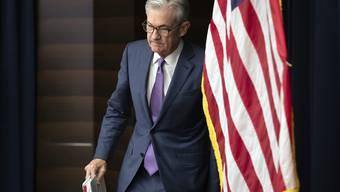 Ein Mangel an Liquidität am US-Geldmarkt ruft Fed-Chef Jerome Powell und seine Kollegen auf den Plan. (Archivbild)