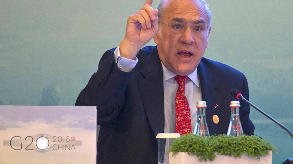 Die Notenbanken können die Weltwirtschaft nicht mehr wieder in Gang bringen, ist OECD-Generalsekretär Gurría überzeugt.