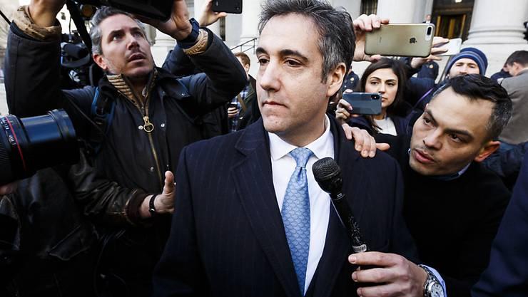 Die US-Justiz fordert eine fünfjährige Haftstrafe für den Ex-Anwalt von US-Präsident Donald Trump, Michael Cohen. (Archivbild)