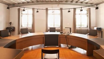 Der Gerichtssaal in Bad Zurzach: Der Einzelrichter wartete vergebens. (Symbolbild)