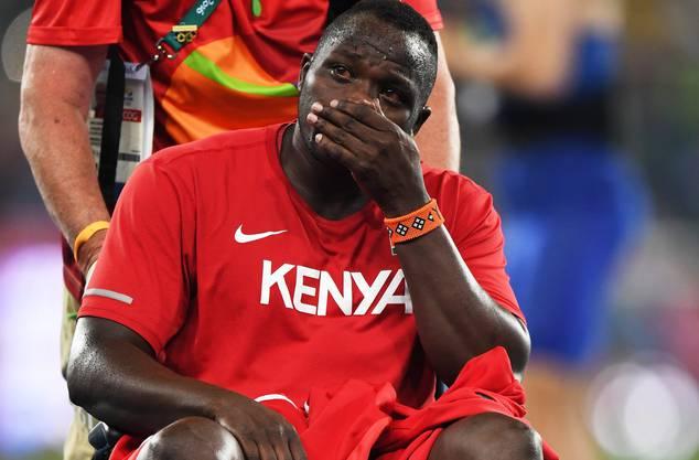 Weltmeister Yego ist untröstlich.