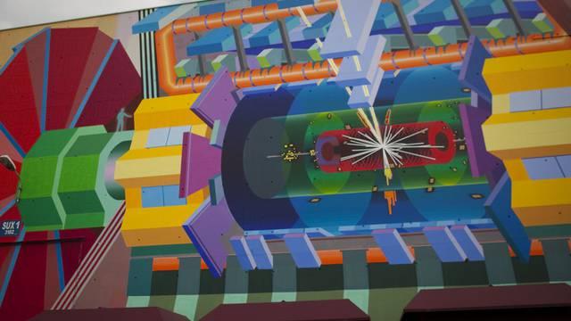Ein Gemälde am CERN zeigt, wie ein Higgs-Teilchen aussehen könnte (Archiv)