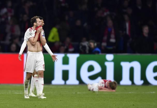 Daley Blind steht der Schock ins Gesicht geschrieben. Er stand mit Ajax so kurz vor der Sensation, dass am Schluss  bloss noch die Leere blieb.